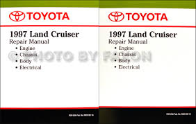 toyota land cruiser wiring diagram manual original 1997 toyota land cruiser repair shop manual factory reprint 2 volume set 119 00
