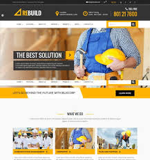 Construction Website Templates Magnificent 48 Best Architecture Construction Website Templates 48