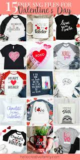 This post for free valentine svg files contains affiliate links. 15 Free Valentine S Day Svg Files For Your Cricut Or Silhouette Hello Creative Family