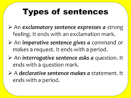Imperative Interrogative Declarative And Exclamatory Sentences ...