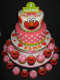 Elmo Birthday Cake And Cupcakes Elmo Birthday Cake Ideas Birthdays