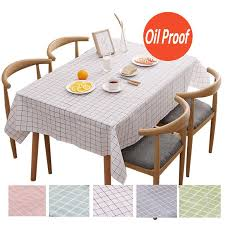 table cloth plaid pattern waterproof oilproof table cloth for round rectangle table muti