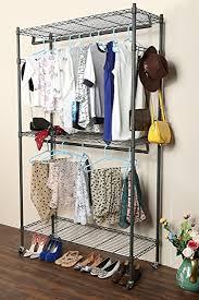 Coat Racks On Wheels Amazon Homdox 100 Shelves Wire Shelving Clothing Rolling Rack 45
