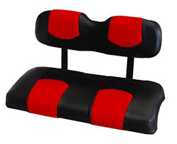 ezgo txt golf cart front seat replacement set covers red and black