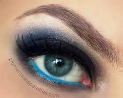 blue flame mac makeup dupe look smokey eye