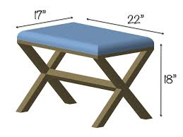 Diy Bench Diy Upholstered X Bench Free Plans Rogue Engineer