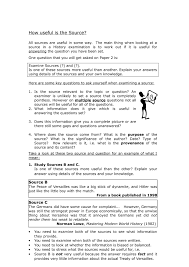 gcse utility of sources doc jpg spanish essays about childhood