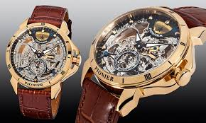 men s skeleton watches groupon goods groupon goods global gmbh men s pionier skeleton watches for £199 delivery