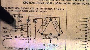high leg delta breaker in a single phase box circa 1971 high leg delta breaker in a single phase box circa 1971