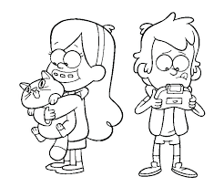 Awesome Coloring Pages Of Gravity Falls 279 Printable Coloring