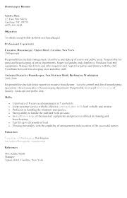 Executive Housekeeper Resume Adorable Hotel Housekeeping Resume Sample Resume For Housekeeper Resume For