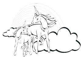 Unicorn Colouring Pages Pdf Unicorns Coloring Flying Sheets Page