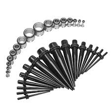 taper gauge kit. bodyj4you 36pcs taper kit 12g-00g acrylic and surgical steel plug gauges stretching gauge