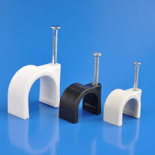 Cable Clips Cable Clamp Wiring Accessory Wire Clip Plastic Wall Nail Nylon  Cable Clips