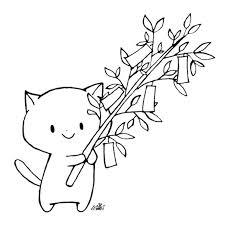 フリーイラスト七夕 きゃらきゃらマキアート