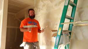 how to hand texture your unfinished garage drywall