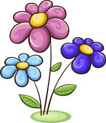 picture of cartoon flowers. Perfect Cartoon Three Cartoon Flowers  Blue Pink Purple Isolated On White Royalty Free  Cliparts Vectors And Stock Illustration Image 51556728 Inside Picture Of T