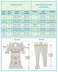 Churidar Measurement Chart Stitching Service Salwar Kameez Punjabi Suit Patiala Um1