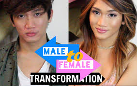 male to female makeup transformation you