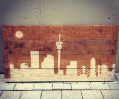 Pallet Art City Skyline Pallet Art 3 Steps With Pictures