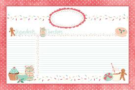 Christmas Recipe Card Adorable Christmas Recipe Cards Come On Over To Thecottagemarket
