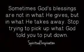 stop trying to pick up what god told you to put down. | Spiritual quotes,  Christian quotes, Quotes about god