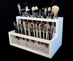2 tier wood and acrylic makeup brush holder makeup brush holder makeup organizer makeup brush organizer brush organizer