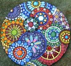 garden mosaic stepping stones personalized