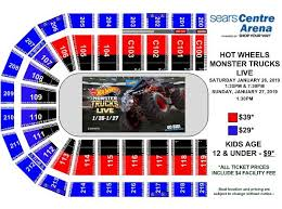 Consol Energy Center Seating Chart Monster Jam Wells Fargo Center Online Charts Collection
