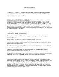 Brilliant Ideas Of Child Care Resume Cover Letter O For Child