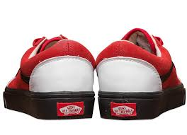 vans shoes red and white. vans the year of rooster old skool suede skateboard shoes red white and