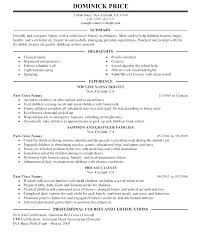 Sample Caregiver Resume Best of Example Of Nanny Resume Nanny Resume Cover Letter Sample Nanny