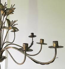 french early 20th c decorative tole chandelier circa 1910 picture 4