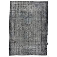 vintage recoloured rug color gray brown 234x166cm