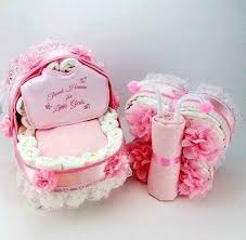 Baby Girl Baby Shower Gift Set Unique Girl Diaper Cakes Etsy