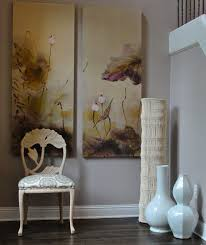 View in gallery Large white floor vases combine with existing decor and  wall art to create an Asian-