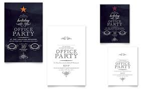 holiday party invitation template office holiday party note card template design