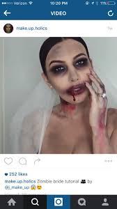 zombie bride glam