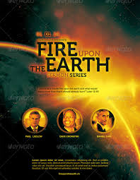 Fire Upon The Earth Church Flyer Template By Loswl On Deviantart
