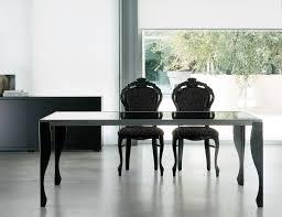 Italian Dining Tables Nella Vetrina Tinto Tin02 Italian Designer Black Wood Dining Table