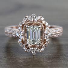 1 carat custom antique emerald halo