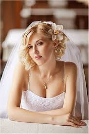 Coiffure Mariage Voile Cheveux Courts Mariage Marie