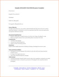 Teaching Resume Template Sample English Teacher Resume Template Language Cv Esl Teaching 93