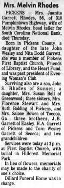 Juanita Garrett Rhodes sister of JB Garrett - Newspapers.com