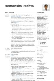 Assistant Designer Resume Assistant Engineer Resume Samples Visualcv Resume Samples Database