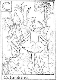 Small Picture Print Letter C For Columbine Flower Fairy Coloring Page or