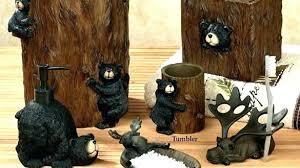 wildlife bathroom decor bear various home exploring critters rustic bath accessories of rug sets