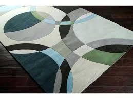 forum square dark green ivory black area rug gray and mint