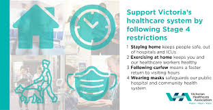 Victoria has reintroduced mandatory mask rules, reduced the number of people allowed in homes and paused an increase on the number of people allowed in offices after a hotel quarantine worker. Four Benefits Of Stage 4 For The Healthcare Sector Victorian Healthcare Association