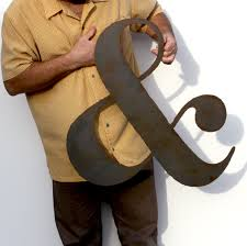 ampersand metal wall art custom sign 24 metal symbol